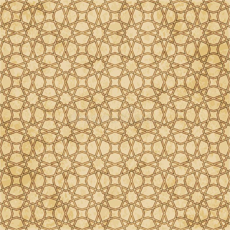 Download Retro Brown Islam Geometrii Wzoru Bezszwowego Tła Wschodni Stylowy Ornament Ilustracja Wektor - Ilustracja złożonej z przełam, orny: 106901050