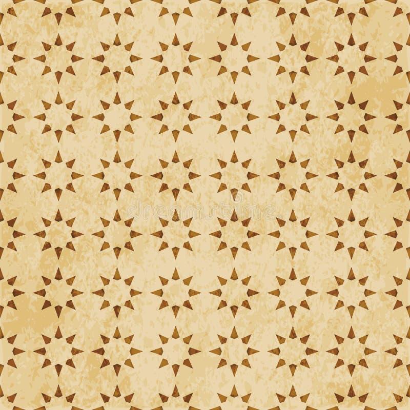 Download Retro Brown Islam Geometrii Wzoru Bezszwowego Tła Wschodni Stylowy Ornament Ilustracja Wektor - Ilustracja złożonej z przełam, brąz: 106901065