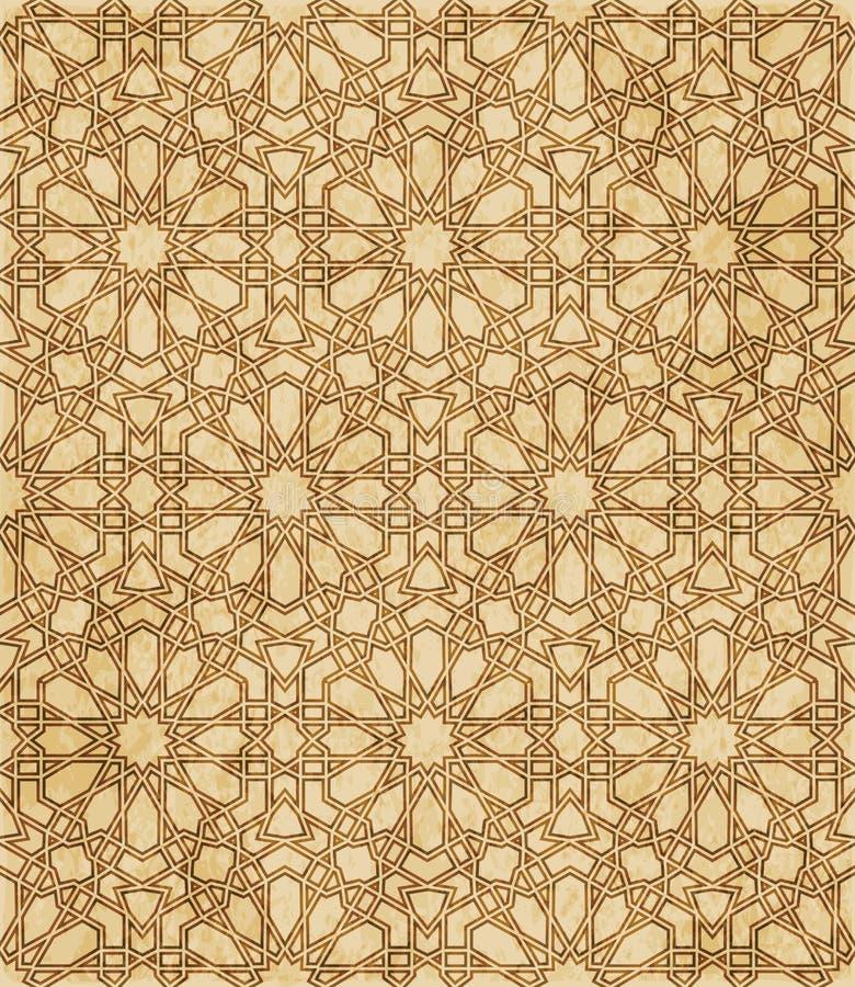 Download Retro Brown Islam Geometrii Wzoru Bezszwowego Tła Wschodni Stylowy Ornament Ilustracja Wektor - Ilustracja złożonej z tło, grunge: 106901181