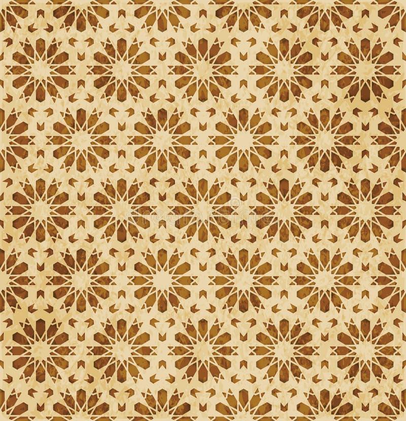Download Retro Brown Islam Geometrii Wzoru Bezszwowego Tła Wschodni Stylowy Ornament Ilustracja Wektor - Ilustracja złożonej z abstrakt, octagonally: 106901208