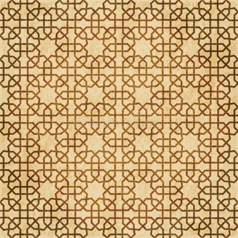 Download Retro Brown Islam Geometrii Wzoru Bezszwowego Tła Wschodni Stylowy Ornament Ilustracja Wektor - Ilustracja złożonej z ośniedziały, octagonally: 106901236