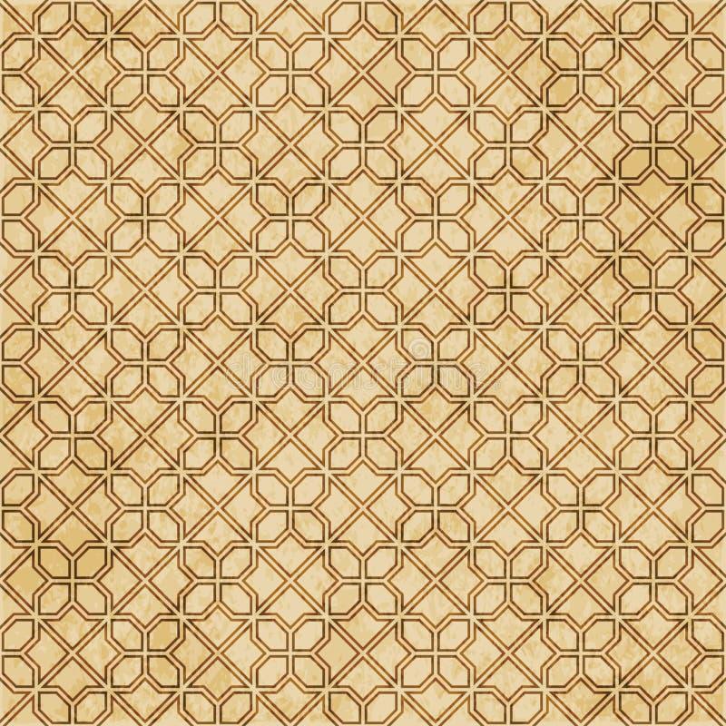 Download Retro Brown Islam Geometrii Wzoru Bezszwowego Tła Wschodni Stylowy Ornament Ilustracja Wektor - Ilustracja złożonej z islamski, antyk: 106901476