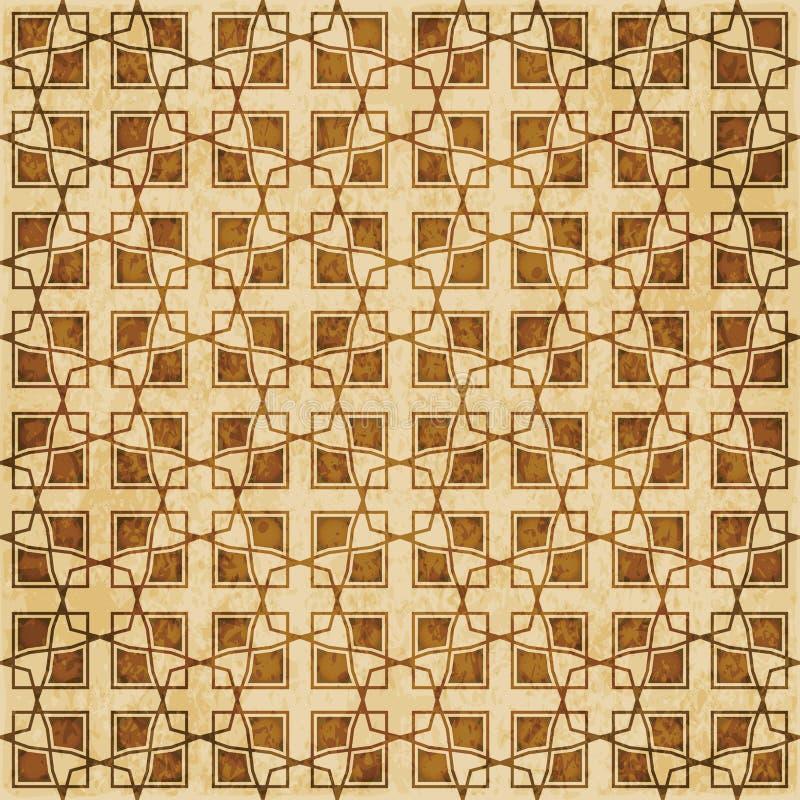 Download Retro Brown Islam Geometrii Wzoru Bezszwowego Tła Wschodni Stylowy Ornament Ilustracja Wektor - Ilustracja złożonej z tło, aged: 106901700