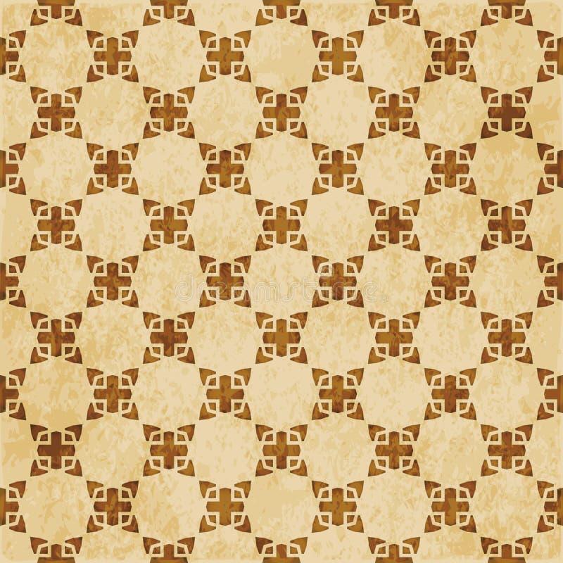 Download Retro Brown Islam Geometrii Wzoru Bezszwowego Tła Wschodni Stylowy Ornament Ilustracja Wektor - Ilustracja złożonej z islam, antyk: 106901723