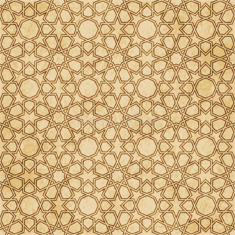 Download Retro Brown Islam Geometrii Wzoru Bezszwowego Tła Wschodni Stylowy Ornament Ilustracja Wektor - Ilustracja złożonej z stary, tło: 106901755