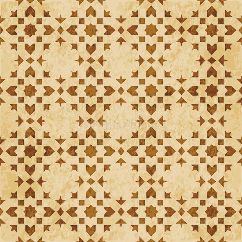 Download Retro Brown Islam Geometrii Wzoru Bezszwowego Tła Wschodni Stylowy Ornament Ilustracja Wektor - Ilustracja złożonej z tło, korek: 106902008