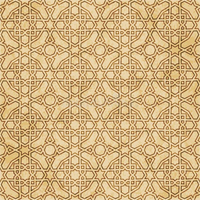 Download Retro Brown Islam Geometrii Wzoru Bezszwowego Tła Wschodni Stylowy Ornament Ilustracja Wektor - Ilustracja złożonej z korek, stary: 106902187