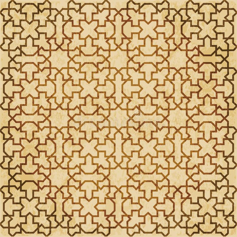 Download Retro Brown Islam Geometrii Wzoru Bezszwowego Tła Wschodni Stylowy Ornament Ilustracja Wektor - Ilustracja złożonej z ośniedziały, przełam: 106902233