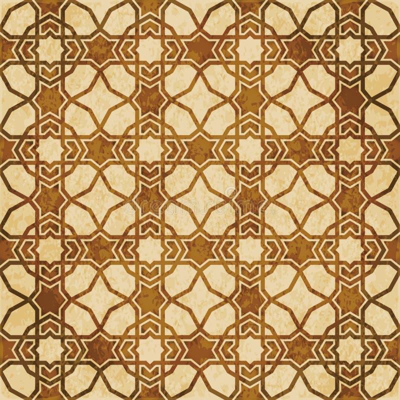 Download Retro Brown Islam Geometrii Wzoru Bezszwowego Tła Wschodni Stylowy Ornament Ilustracja Wektor - Ilustracja złożonej z egzot, islamski: 106902253