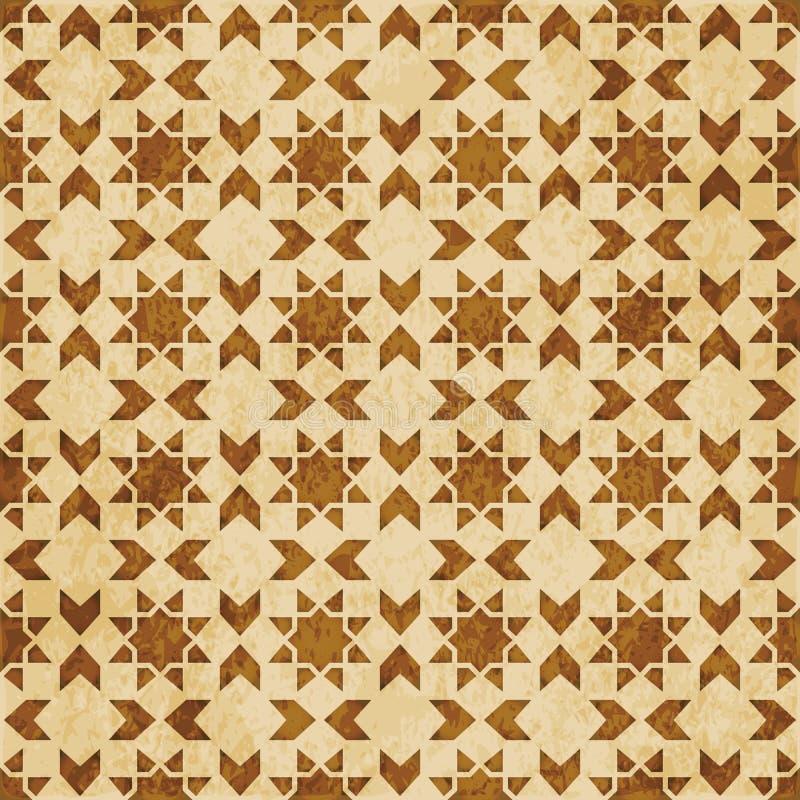 Download Retro Brown Islam Geometrii Wzoru Bezszwowego Tła Wschodni Stylowy Ornament Ilustracja Wektor - Ilustracja złożonej z wzór, stary: 106902331