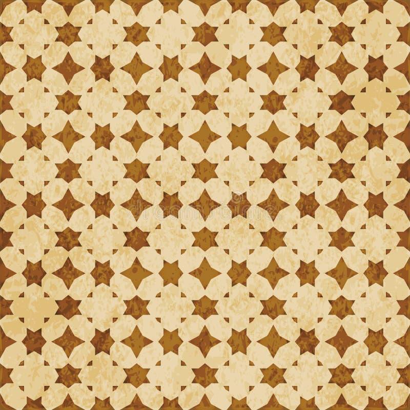 Download Retro Brown Islam Geometrii Wzoru Bezszwowego Tła Wschodni Stylowy Ornament Ilustracja Wektor - Ilustracja złożonej z wschodni, linia: 106902389