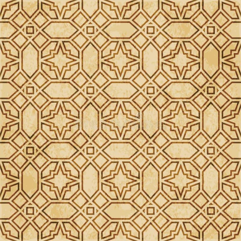 Download Retro Brown Islam Geometrii Wzoru Bezszwowego Tła Wschodni Stylowy Ornament Ilustracja Wektor - Ilustracja złożonej z zatarty, wielobok: 106902390