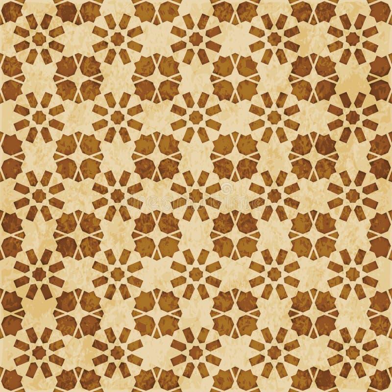 Download Retro Brown Islam Geometrii Wzoru Bezszwowego Tła Wschodni Stylowy Ornament Ilustracja Wektor - Ilustracja złożonej z rama, octagonally: 106902562