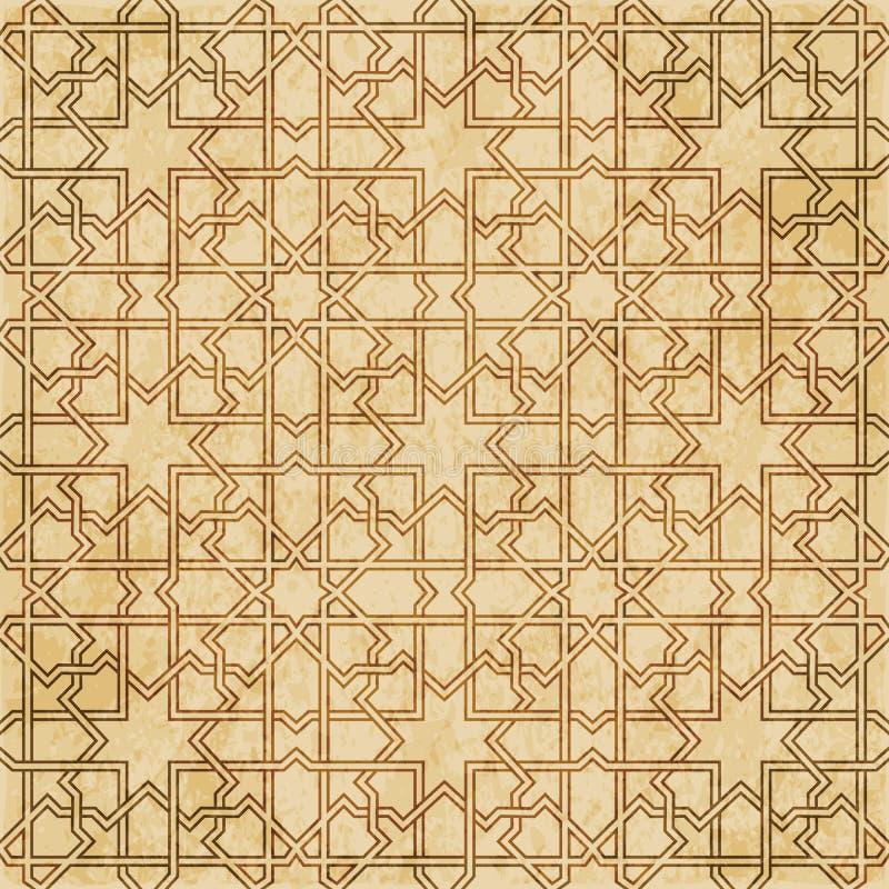 Download Retro Brown Islam Geometrii Wzoru Bezszwowego Tła Wschodni Stylowy Ornament Ilustracja Wektor - Ilustracja złożonej z pergamin, wschodni: 106902626
