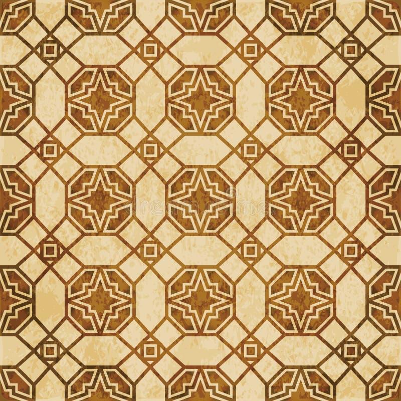 Download Retro Brown Islam Geometrii Wzoru Bezszwowego Tła Wschodni Stylowy Ornament Ilustracja Wektor - Ilustracja złożonej z przełam, wzór: 106902869