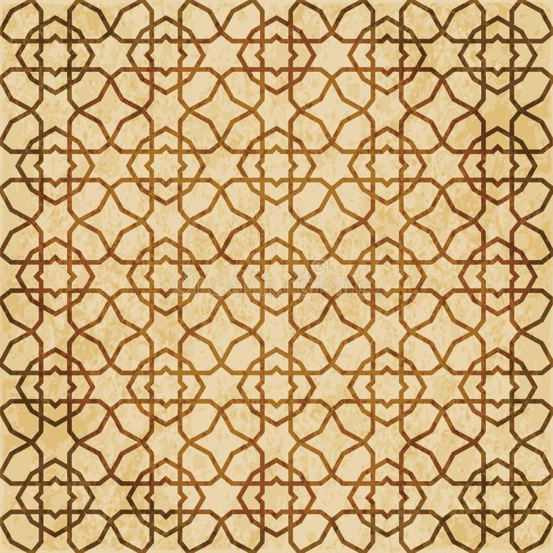 Download Retro Brown Islam Geometrii Wzoru Bezszwowego Tła Wschodni Stylowy Ornament Ilustracja Wektor - Ilustracja złożonej z wschodni, pergamin: 106902917