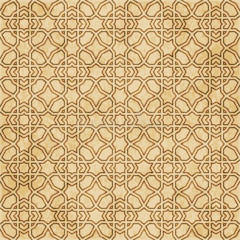 Download Retro Brown Islam Geometrii Wzoru Bezszwowego Tła Wschodni Stylowy Ornament Ilustracja Wektor - Ilustracja złożonej z geomorfologiczny, ośniedziały: 106903120