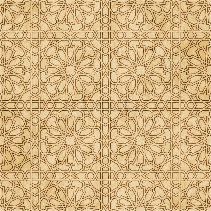 Download Retro Brown Islam Geometrii Wzoru Bezszwowego Tła Wschodni Stylowy Ornament Ilustracja Wektor - Ilustracja złożonej z stary, materiał: 106903492
