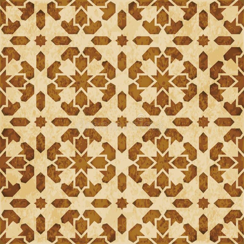 Download Retro Brown Islam Geometrii Wzoru Bezszwowego Tła Wschodni Stylowy Ornament Ilustracja Wektor - Ilustracja złożonej z orny, korek: 106903555