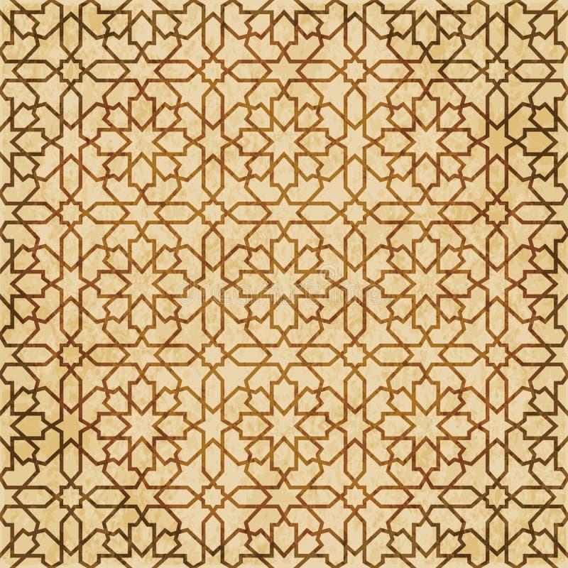 Download Retro Brown Islam Geometrii Wzoru Bezszwowego Tła Wschodni Stylowy Ornament Ilustracja Wektor - Ilustracja złożonej z stary, islam: 106903632