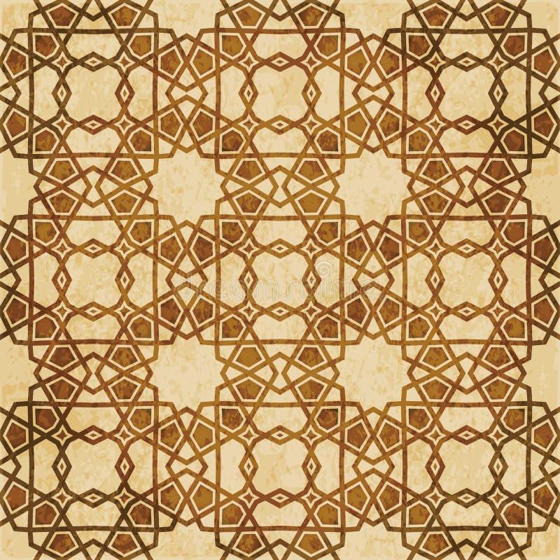 Download Retro Brown Islam Geometrii Wzoru Bezszwowego Tła Wschodni Stylowy Ornament Ilustracja Wektor - Ilustracja złożonej z grunge, wschodni: 106903819