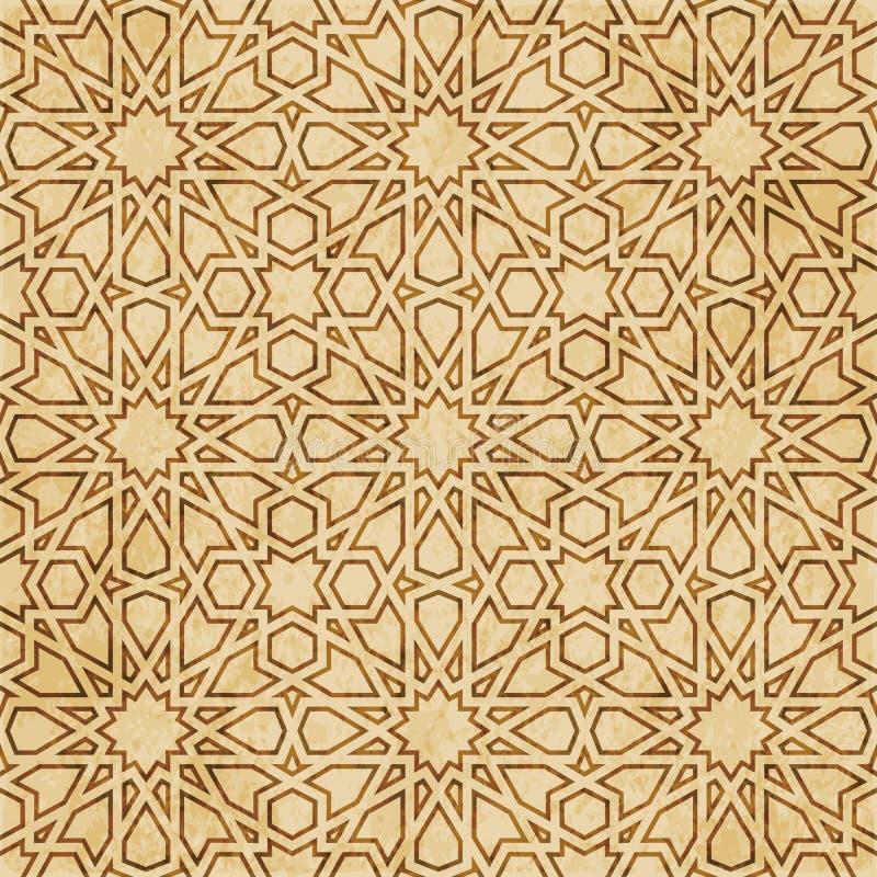 Download Retro Brown Islam Geometrii Wzoru Bezszwowego Tła Wschodni Stylowy Ornament Ilustracja Wektor - Ilustracja złożonej z wielobok, krzyż: 106904091
