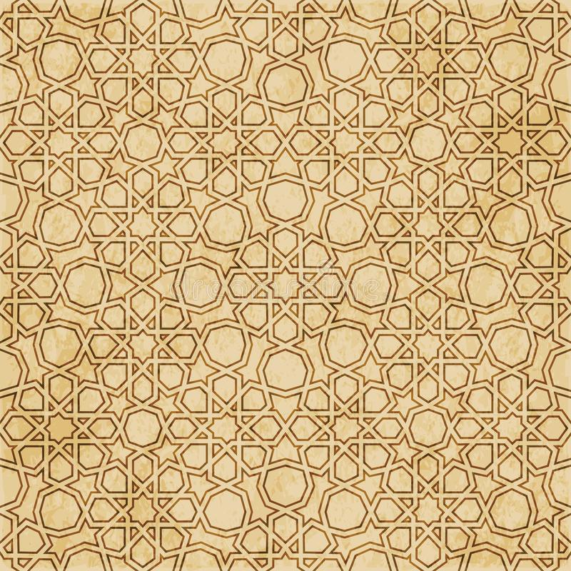 Download Retro Brown Islam Geometrii Wzoru Bezszwowego Tła Wschodni Stylowy Ornament Ilustracja Wektor - Ilustracja złożonej z brąz, rama: 106904294