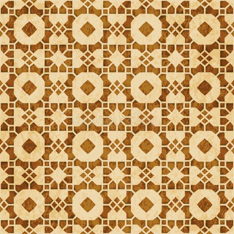 Download Retro Brown Islam Geometrii Wzoru Bezszwowego Tła Wschodni Stylowy Ornament Ilustracja Wektor - Ilustracja złożonej z octagonally, islam: 106904356
