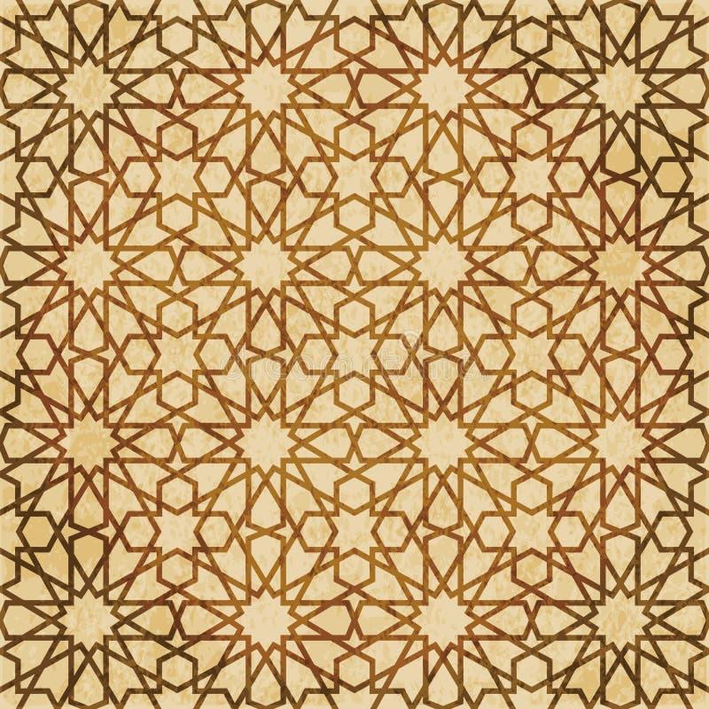 Download Retro Brown Islam Geometrii Wzoru Bezszwowego Tła Wschodni Stylowy Ornament Ilustracja Wektor - Ilustracja złożonej z stary, retro: 106904399