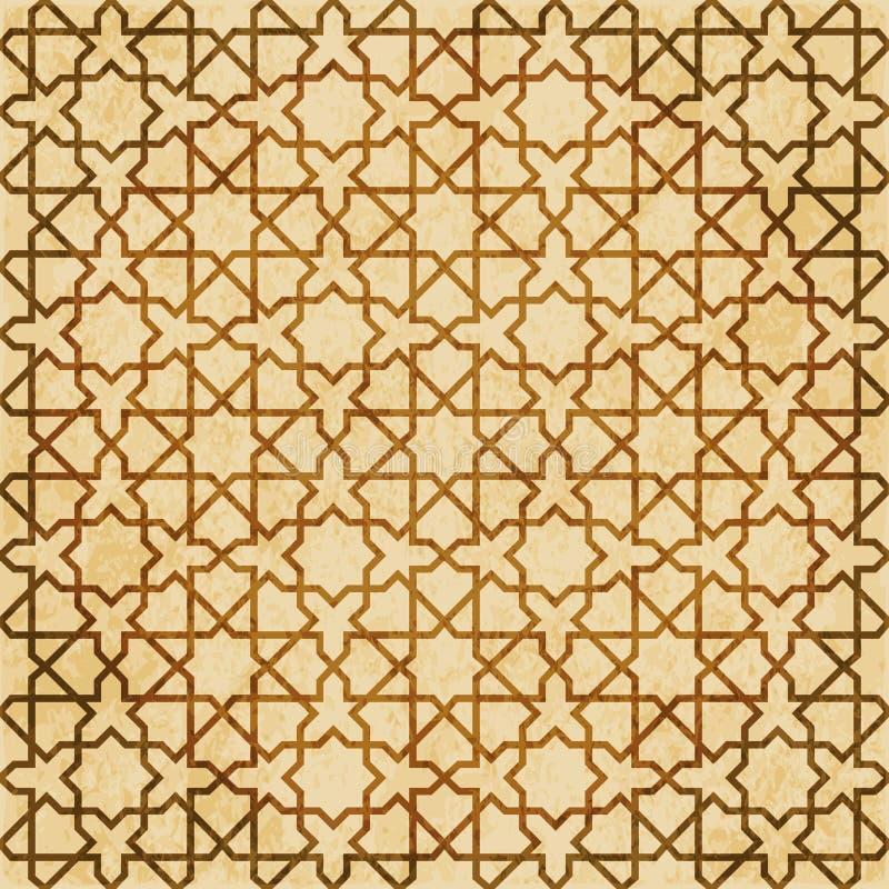 Download Retro Brown Islam Geometrii Wzoru Bezszwowego Tła Wschodni Stylowy Ornament Ilustracja Wektor - Ilustracja złożonej z wschodni, grunge: 106904419