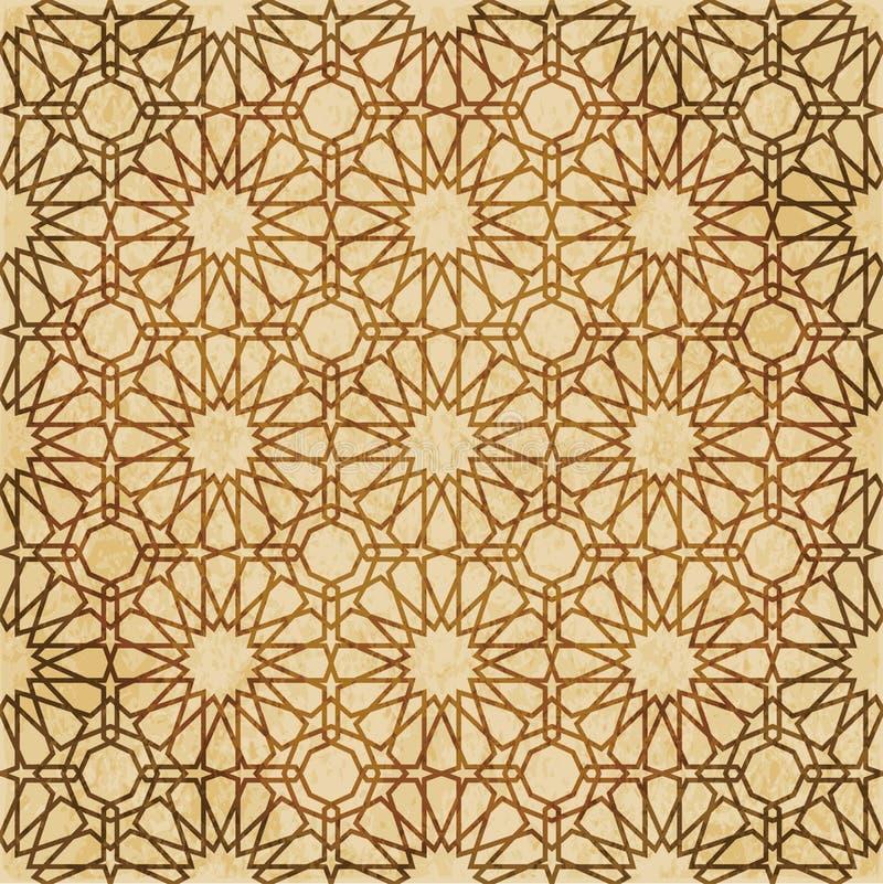 Download Retro Brown Islam Geometrii Wzoru Bezszwowego Tła Wschodni Stylowy Ornament Ilustracja Wektor - Ilustracja złożonej z materiał, królewiątko: 106904494