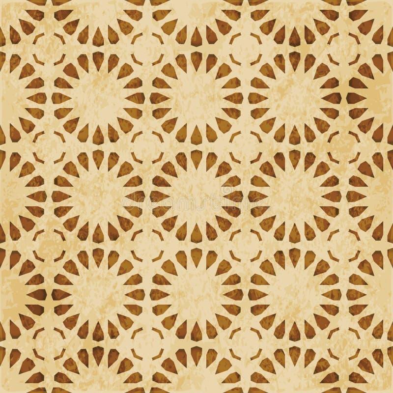 Download Retro Brown Islam Geometrii Wzoru Bezszwowego Tła Wschodni Stylowy Ornament Ilustracja Wektor - Ilustracja złożonej z materiał, krzywa: 106904499