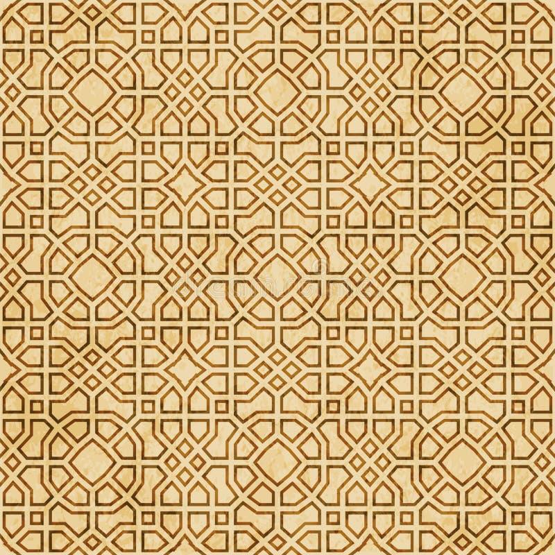 Download Retro Brown Islam Geometrii Wzoru Bezszwowego Tła Wschodni Stylowy Ornament Ilustracja Wektor - Ilustracja złożonej z wzór, grunge: 106904529