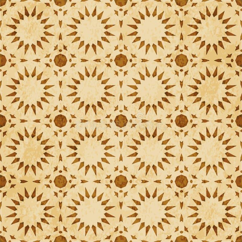 Download Retro Brown Islam Geometrii Wzoru Bezszwowego Tła Wschodni Stylowy Ornament Ilustracja Wektor - Ilustracja złożonej z islam, ornament: 106904560