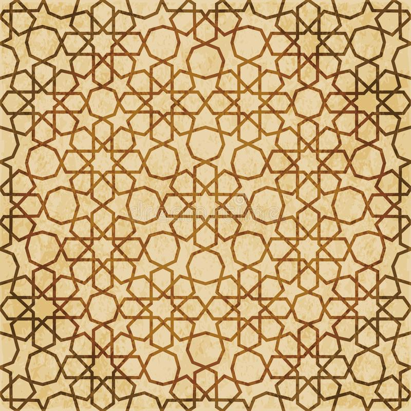 Download Retro Brown Islam Geometrii Wzoru Bezszwowego Tła Wschodni Stylowy Ornament Ilustracja Wektor - Ilustracja złożonej z orny, krzywa: 106904589