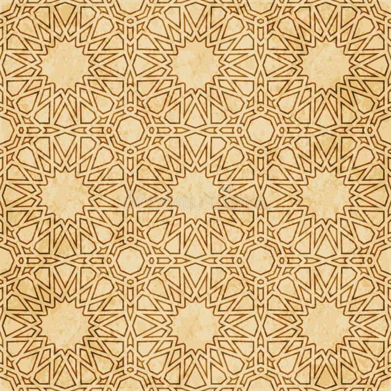 Download Retro Brown Islam Geometrii Wzoru Bezszwowego Tła Wschodni Stylowy Ornament Ilustracja Wektor - Ilustracja złożonej z tło, rama: 106904604