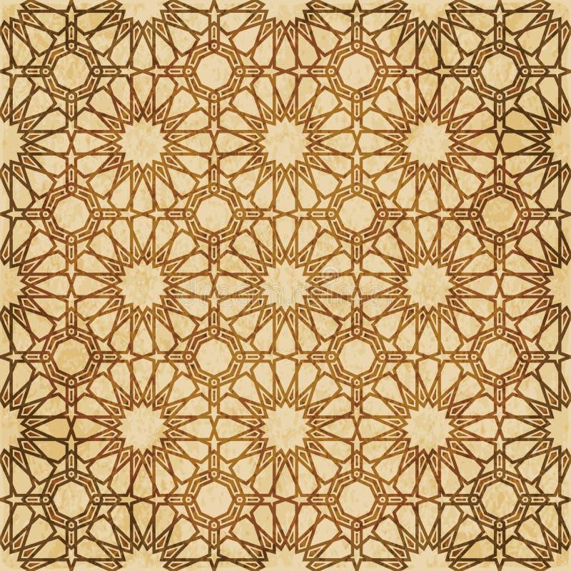 Download Retro Brown Islam Geometrii Wzoru Bezszwowego Tła Wschodni Stylowy Ornament Ilustracja Wektor - Ilustracja złożonej z zatarty, islamski: 106904660