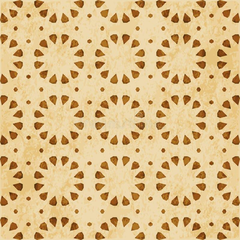 Download Retro Brown Islam Geometrii Wzoru Bezszwowego Tła Wschodni Stylowy Ornament Ilustracja Wektor - Ilustracja złożonej z wielobok, krzyż: 106904718