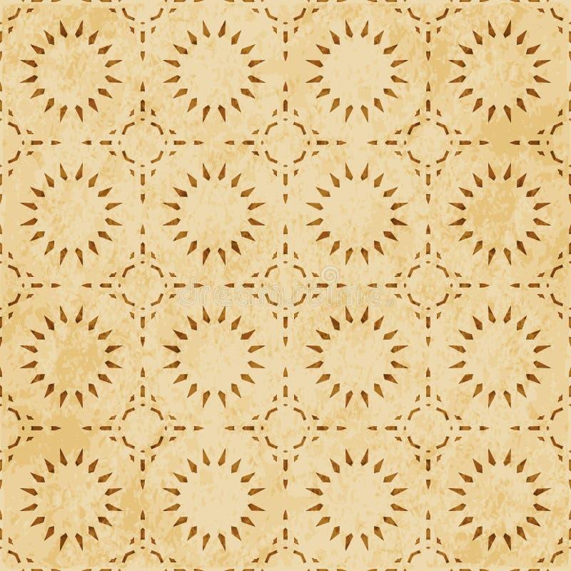 Download Retro Brown Islam Geometrii Wzoru Bezszwowego Tła Wschodni Stylowy Ornament Ilustracja Wektor - Ilustracja złożonej z brud, ośniedziały: 106904750
