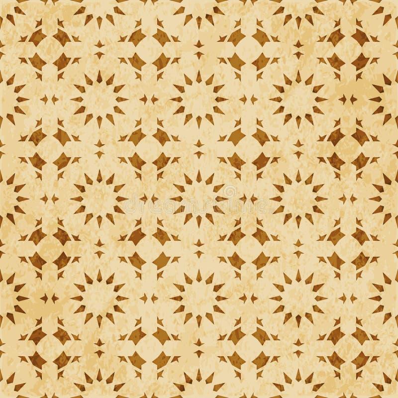 Download Retro Brown Islam Geometrii Wzoru Bezszwowego Tła Wschodni Stylowy Ornament Ilustracja Wektor - Ilustracja złożonej z linia, brud: 106904808