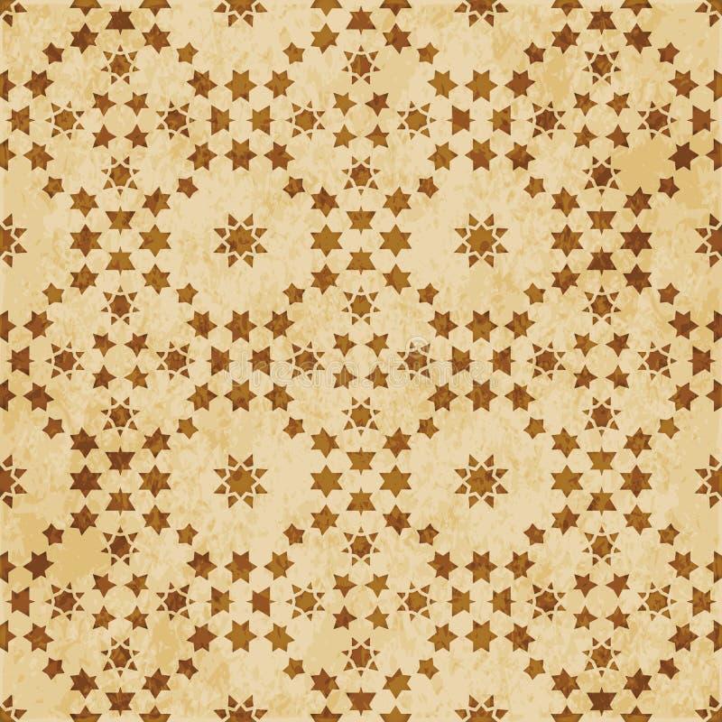 Download Retro Brown Islam Geometrii Wzoru Bezszwowego Tła Wschodni Stylowy Ornament Ilustracja Wektor - Ilustracja złożonej z sześciokąt, materiał: 106904897