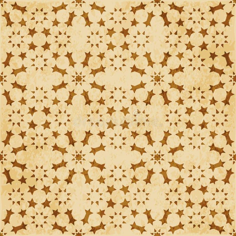 Download Retro Brown Islam Geometrii Wzoru Bezszwowego Tła Wschodni Stylowy Ornament Ilustracja Wektor - Ilustracja złożonej z grunge, aged: 106905024