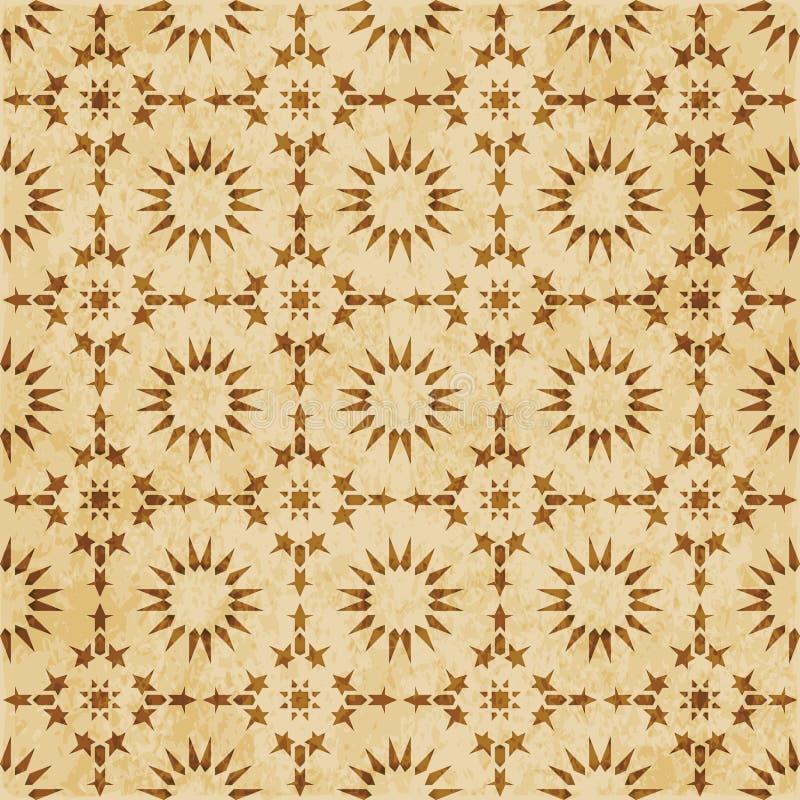 Download Retro Brown Islam Geometrii Wzoru Bezszwowego Tła Wschodni Stylowy Ornament Ilustracja Wektor - Ilustracja złożonej z korek, abstrakt: 106905030