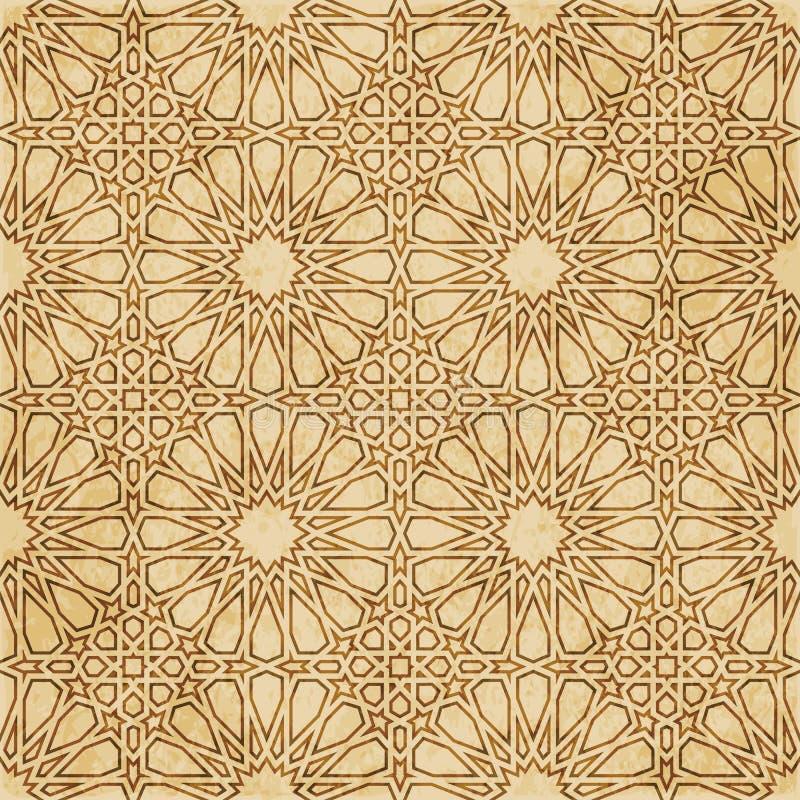 Download Retro Brown Islam Geometrii Wzoru Bezszwowego Tła Wschodni Stylowy Ornament Ilustracja Wektor - Ilustracja złożonej z korek, zatarty: 106905127
