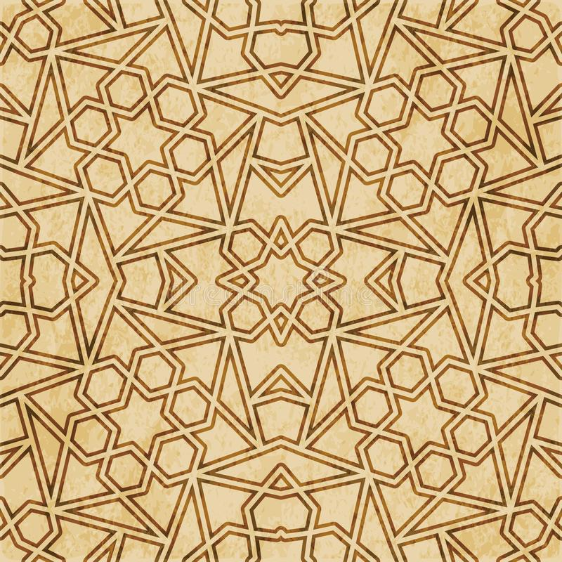 Download Retro Brown Islam Geometrii Wzoru Bezszwowego Tła Wschodni Stylowy Ornament Ilustracja Wektor - Ilustracja złożonej z rama, zatarty: 106905297