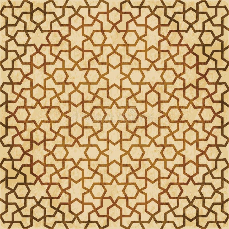 Download Retro Brown Islam Geometrii Wzoru Bezszwowego Tła Wschodni Stylowy Ornament Ilustracja Wektor - Ilustracja złożonej z krzyż, tło: 106905301