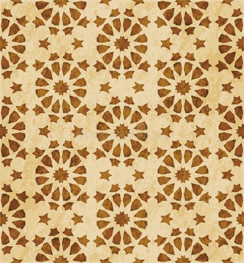 Download Retro Brown Islam Geometrii Wzoru Bezszwowego Tła Wschodni Stylowy Ornament Ilustracja Wektor - Ilustracja złożonej z egzot, islamski: 106905526