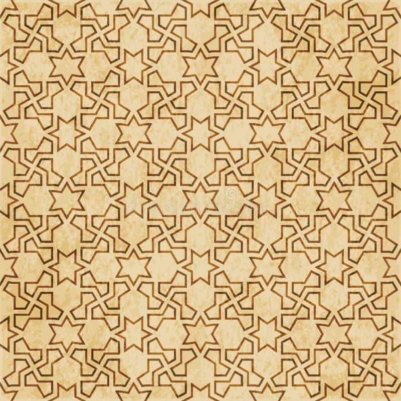 Download Retro Brown Islam Geometrii Wzoru Bezszwowego Tła Wschodni Stylowy Ornament Ilustracja Wektor - Ilustracja złożonej z islam, królewiątko: 106905543
