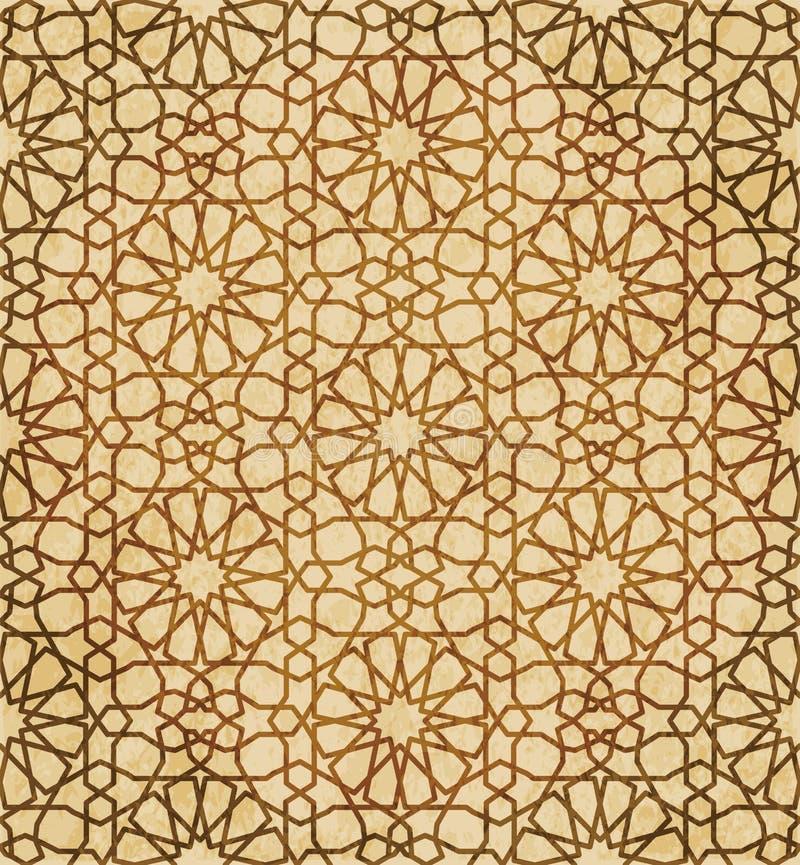 Download Retro Brown Islam Geometrii Wzoru Bezszwowego Tła Wschodni Stylowy Ornament Ilustracja Wektor - Ilustracja złożonej z islamski, antyk: 106905591