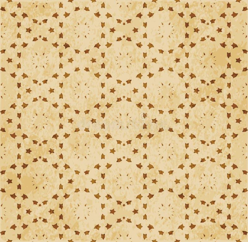 Download Retro Brown Islam Geometrii Wzoru Bezszwowego Tła Wschodni Stylowy Ornament Ilustracja Wektor - Ilustracja złożonej z krzywa, wielobok: 106905700
